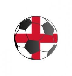 Flag of England and soccer ball vector