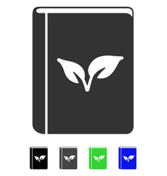 Flora book flat icon vector