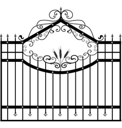 Forged fence street garden fence artistic forging vector