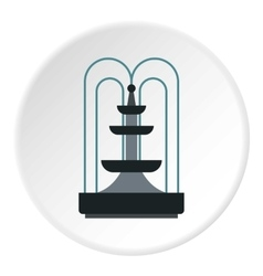 Fountain icon flat style vector
