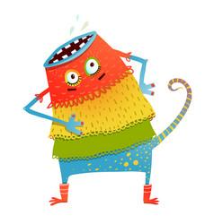 Freaky creature monster in dress vector