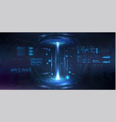 Futuristic circle 3d lab vector
