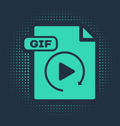 Green gif file document download gif button icon vector