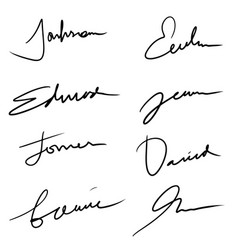 Hand lettering lines - signature lines isolated vector