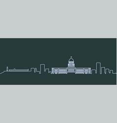 Havana single line skyline vector
