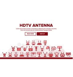 Hdtv antenna device landing header vector