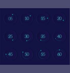 interface countdown set vector image