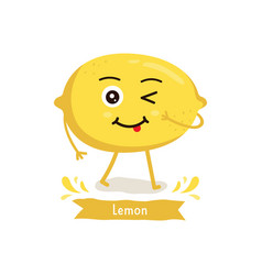 lemon cartoon vector image