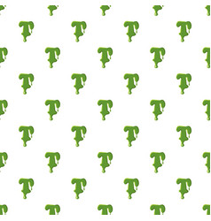 Letter t made of green slime vector