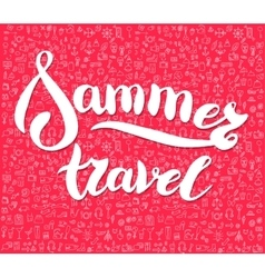 lettering design element Travel time poster vector image