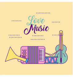 Love classical music vector