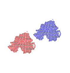 Map of northern ireland vector