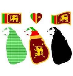 Map of the Democratic Socialist Republic of Sri vector