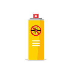 mosquito insect reppelent bottle icon bug and vector image