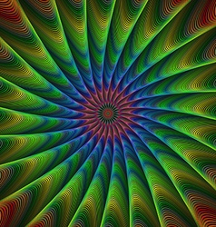 Multicolor striped peacock fractal background vector