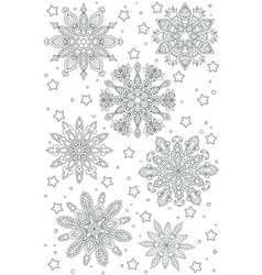 new year and christmas theme black and white vector image