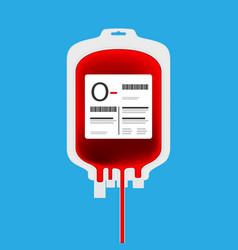 o blood bag vector image