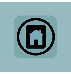 Pale blue house plate sign vector