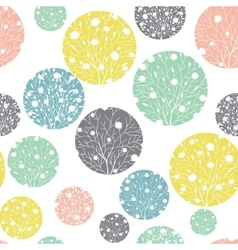Pastel Colorful Circles Dots Seamless vector