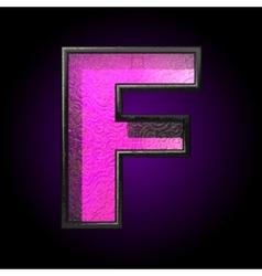 Pink plastic figure f vector