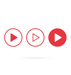 player button icon sign internet online radio vector image