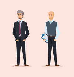 Professional businessmen to executive company vector