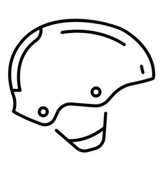 protection helmet icon outline style vector image