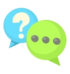 Question and exclamation speech bubbles icon vector image