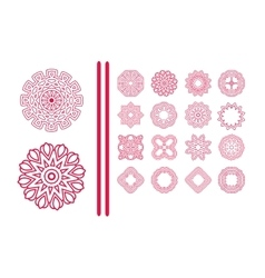Red Christmas snowflakes vector image vector image
