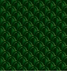 Retro squama green seamless pattern in ar deco vector