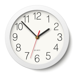 Round wall clock without divisions vector
