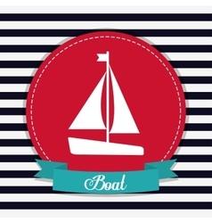 Sailboat icon Sea lifestyle design vector