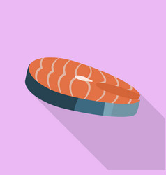 Salmon icon flat style vector