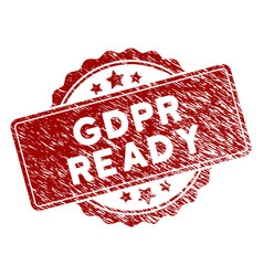Scratched textured gdpr ready stamp seal vector