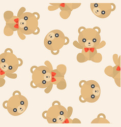 seamless pattern cute teddy bear for use vector image
