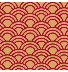 Seamless wave japanese pattern vector image
