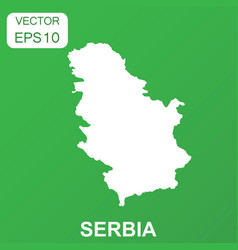serbia map icon business concept serbia pictogram vector image