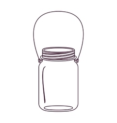 Silhouette glass jar of jam with handle vector