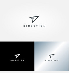 simple clean direction logo sign symbol icon vector image