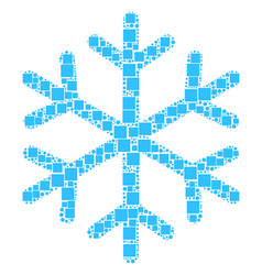 snowflake collage of squares and circles vector image