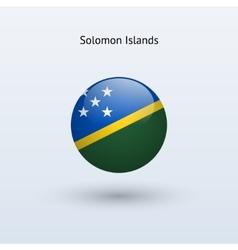 Solomon Islands round flag vector