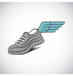 sport running shoes vector image