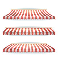 Striped awnings set vector