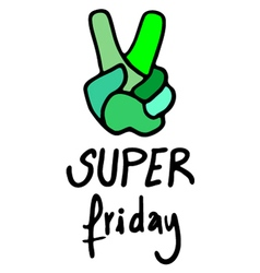 super friday message vector image