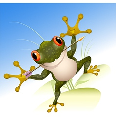 The lucky frog vector image