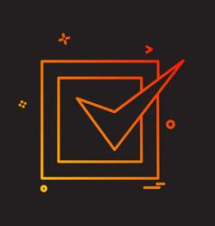 tick icon design vector image