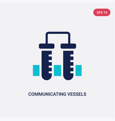 Two color communicating vessels icon from vector