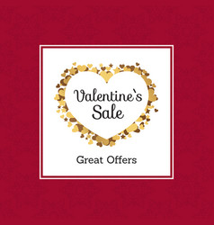 Valentines sale great offers vector