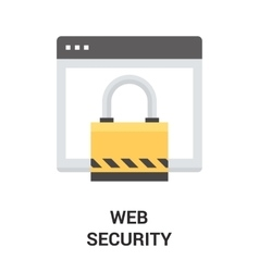 web security icon vector image
