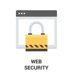 Web security icon vector
